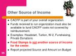 other source of income