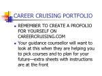 career cruising portfolio