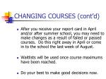 changing courses cont d2