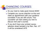 changing courses