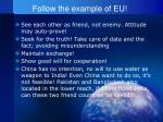 follow the example of eu