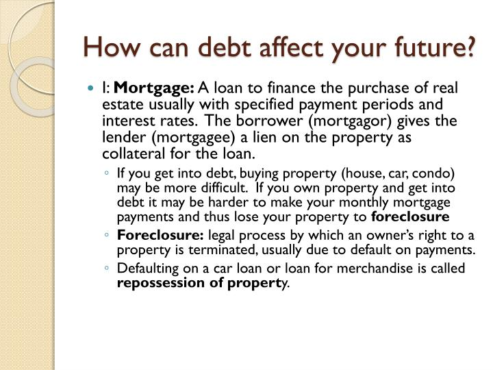 How can debt affect your
