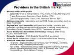 providers in the british market