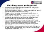 work programme funding model