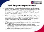 work programme procurement