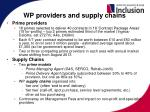 wp providers and supply chains