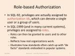 role based authorization
