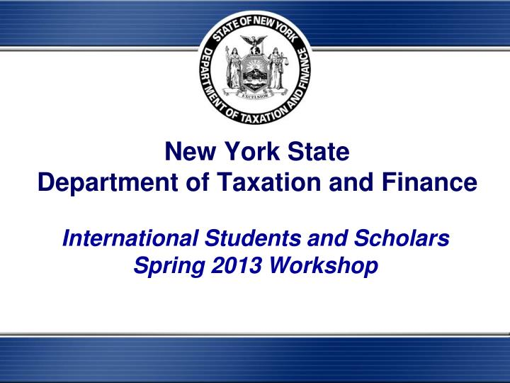 new york state department of taxation and finance n.