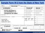 sample form w 2 from the state of new york