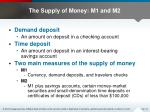 the supply of money m1 and m2