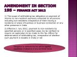 amendment in section 195 finance act 2012