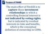 purpose of fin46r