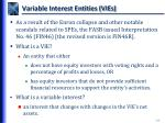 variable interest entities vies