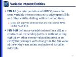variable interest entities1