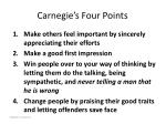 carnegie s four points
