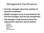 management classifications