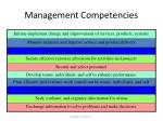 management competencies1