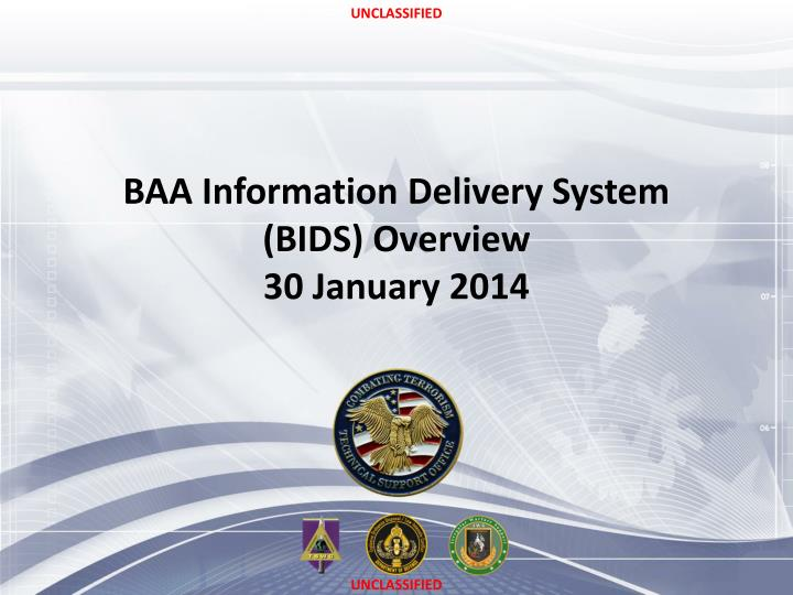 baa information delivery system bids overview 30 january 2014 n.
