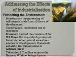 addressing the effects of industrialization2
