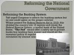 reforming the national government