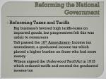 reforming the national government1
