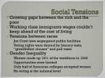 social tensions