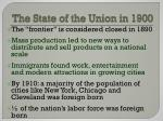the state of the union in 1900
