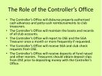 the role of the controller s office