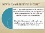 bonds small business support