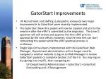 gatorstart improvements
