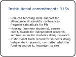 institutional commitment r15s