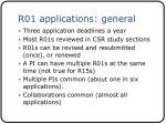r01 applications general