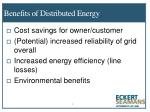 benefits of distributed energy