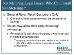 net metering legal issues who can install net metering