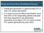 projected growth in distributed energy