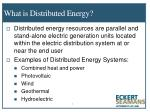 what is distributed energy