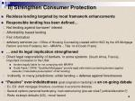 ii strengthen consumer protection