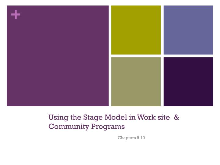 using the stage model in work site community programs n.