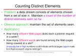 counting distinct elements