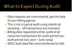 what to expect during audit