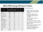 bbva peru energy efficiency project