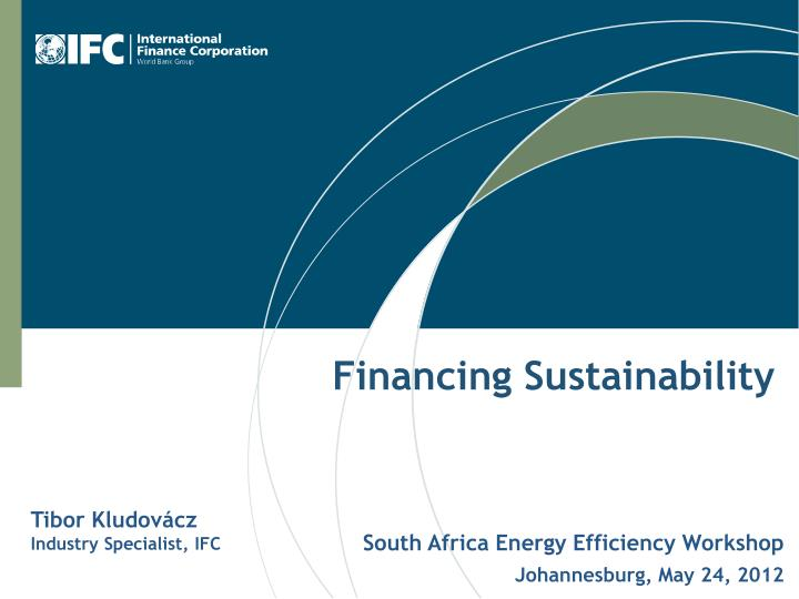 financing sustainability n.
