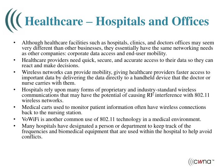 Healthcare – Hospitals and Offices
