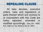 repealing clause