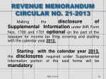 revenue memorandum circular no 21 2013