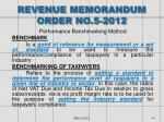 revenue memorandum order no 5 2012