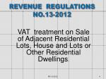 revenue regulations no 13 2012