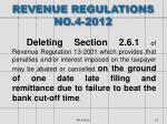 revenue regulations no 4 2012