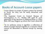 books of account loose papers