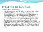 presence of counsel1